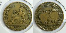 """2 FRANCS  """" Chambre de commerce """" 1927"""
