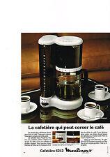 PUBLICITE  1980   MOULINEX  cafetière 6212