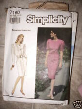 Vintage Simplicity Pattern Dress Belt 10 12 14 16 18