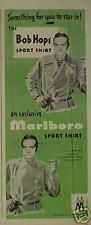 1949 Bob Hope Comedian Movie Star Marlboro Shirt AD