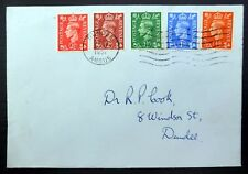 GB 1951 G.VI Changed Colours (5) on FDC NC37