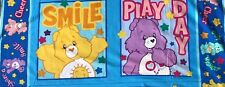 """Cotton Quilt Fabric Care Bears 2004 Those Characters Pillow Panel 18"""" x 44"""""""