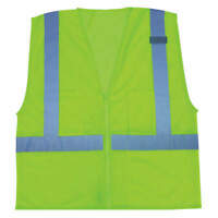 CONDOR 3ZDP5 High Visibility Vest,Class 2,3XL,Lime