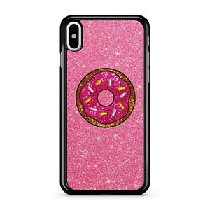 Pink Golden Yellow Sprinkled Creamy Doghnut Printed Glitter 2D Phone Case Cover
