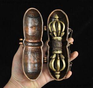 old Tibetan silver brass Vajra Dorje Phurpa Exorcism Talisman Exorcism FaQi set