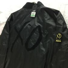 Puma x The Weeknd XO Bomber Jacket Men's Size L Black Embroidered NEW with Tags