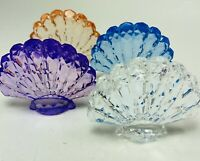 Ganz Crystal Expressions Tabletop Acrylic Clam Shell Tabletop Decor Lot of 4 New