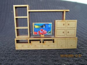 DOLLHOUSE MINIATURE QUARTER INCH SCALE LIVING ROOM CONSOLE
