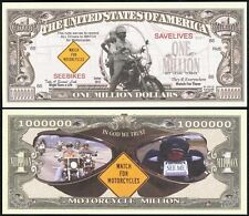 WATCH FOR MOTORCYCLES SAVE LIVES MILLION DOLLAR BILL - Lot of 2 BILLS
