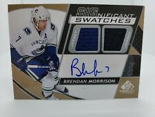 2008-09 SP Game Used SIGnificant Swatches #SSMO Brendan Morrison 48/50