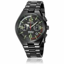 Mens Wristwatch BREIL MANTA PROFESSIONAL TW1357 Chrono Steel Black Sub 100mt
