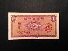 South Korea 1962 One 1 Won P 30 Uncirculated Unc