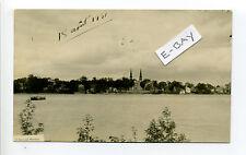 Canada Québec, Saint-Denis sur Richelieu RPPC real photo 1931 shoreline, homes