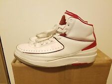 AIR JORDAN 2 RETRO WHITE BLACK VARSITY RED GRAY CHERRY SIZE 9.5