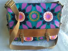 Fossil Key Per large coated canvas messenger laptop bag purse