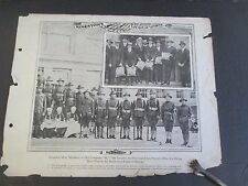 KINGSTON, NY WWI Soldiers, NY American Photo Print Company M 10th Infantry, 1918