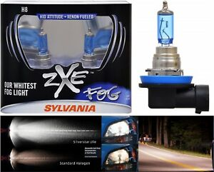 Sylvania Silverstar ZXE H8 35W Two Bulbs DRL Daytime Light Cornering Angel Eye