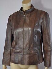 Nicola Berti Coffee Brown Soft Genuine Italian Leather Motorcycle Jacket Sz M