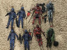 G.I. Joe Classified lot Red Ninjas, Cobra Infantry, Beach Head Firefly lot loose