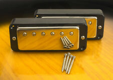 Mini Humbucker Coversion Set For P90 Cutout-4 Wire For Coil Tap-Black