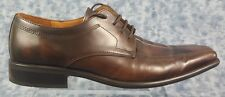 Jeff Banks Mens Size 9.5 Brown Bicycle Toe  Leather Oxfords