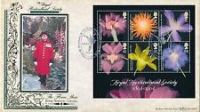 2004 Benham FDC BLCS 282 Royal Horticulture Society Mini Sheet,with info card