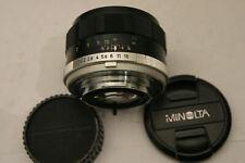 Minolta Rokkor-PF 58mm F1.4 Lens. Minolta MD fit