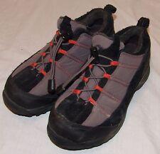 Lands End Shoes 6B Gray Black Womens Hiking Walking Drawstring Trail