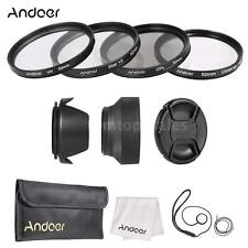 Andoer 52mm Lens Filter Kit (UV+CPL+Star+8+Close-up+4)+Lens Cap/Holder NEW G1V5