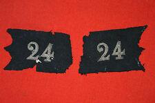 PATTES DE COL D'UN OFFICIER DU 24° REGIMENT DE DRAGONS-CAVALERIE GRANDE GUERRE