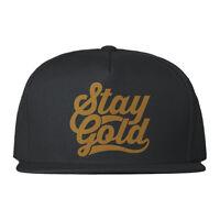 Stay Gold 5 Panel Snapback Cap Urban Streetwear Print Design Mens Girls Hat New