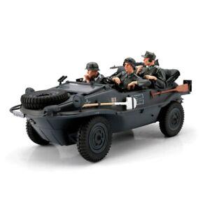 1:16 Scale Torro German Wehrmacht VW Schwimmwagen RC Car Crew Set Grey