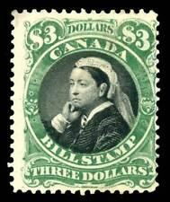 Canada Revenue - Bills - Third Issue 1868 $3 uncancelled - van Dam FB54