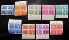 NNG NVPH 1 - 9 Cijfer Van Krimpen prachtig postfris in blokken van 4 CW 64,- (+)