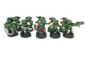 Warhammer 40k Space Marines Tactical Squad Salamanders Painted