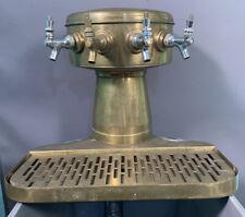 Vintage Old Hotel Bar Salvage Brass 4 Tap Speakeasy Draft Beer Tower Dispenser