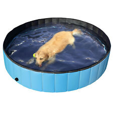 Blue Foldable Pet Pool,Suitable for Dogs,Cats or Other Pets to Swim and Bath