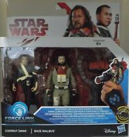 Hasbro Star Wars, Chirrut Imwe & Baze Malbus Force Link  Rogue One BNIB