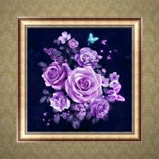 Rose Butterfly 5D Diamond Embroidery Painting DIY Cross Stitch Art Craft Decor