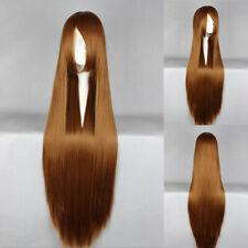 Ladieshair Cosplay Wig Perücke hellbraun 100cm glatt Okami-san OOKAMI RYOUKO F7T