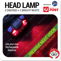Red & White LED Astronomy Headlamp / Night Light / Head Torch AAA Powered