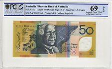1995 First Prefix AA95 $50 Dollar Note R516aF Fraser Evans PCGS Superb Gem UNC