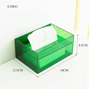Napkin Holder Acrylic Transparent Tissue Paper Container Home Office Organizer
