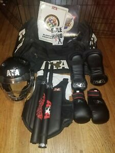 ATA Taekwondo Karate Martial Arts Sparring Gear Bags & Equipment Lot Kids Youth