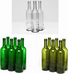 GLASFLASCHEN 750ml FLASCHE Likörflaschen Weinflasche  leere Glasflasche Wein