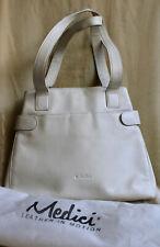 MEDICI Handtasche weiß Damen Tasche Schultertasche Bag Handbag mit Staubbeutel