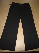 OLD NAVY GRAY W/WHITE PINSTRIPES CAREER PANT SIZE 6
