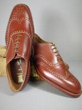 Vintage 1960 Handmade Bespoke Scottish Wingtip Brogues James Allan Est.1783 Sz 8