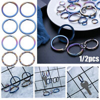 Titanium Alloy Key Chain Portable Keyring Buckle Circle Clip Key Holder