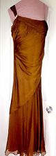GRECIAN SILK GOWN -Antique Gold, 6 Petite, NITE LINE: Lord & Taylor MSRP $450